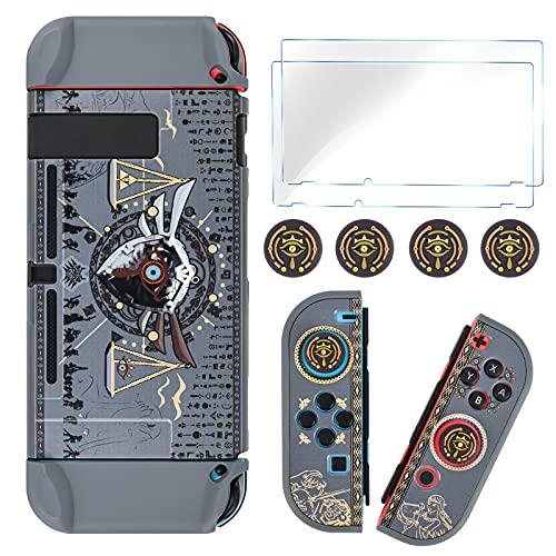 DLseego Zelda - Funda protectora acoplable compatible con Nintendo Switch, cubierta dura...