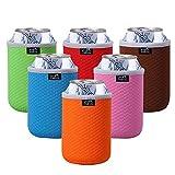 TAGVO Juego de 6 fundas aislantes para latas de cerveza. Colores surtidos, lavables a...