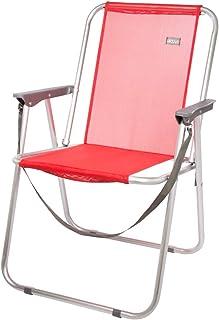 Aktive 53967 Silla plegable fija aluminio Beach, 47 x 54 x