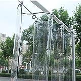 ZPTAT Lona Transparente Impermeable Resistente Toldos y Lonas con Ojales Exterior Vinilo Antidesgarro, Cubierta para Terraza, Glorieta, Resistente al Viento, Área Al Aire Libre,1.6x2m(5x6ft)