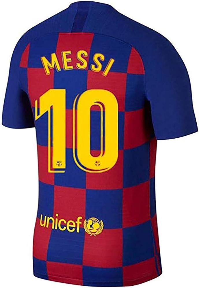 MBLLE Messi #10 Barcelona Home 2019-2020 - Camiseta Deportiva para Hombre