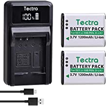 Tectra 2 Pack LI-50B D-LI92 Batteries and LED USB Charger Compatible with Olympus VR-340 1010 1020 1030SW Tough 6000 6020 8000 8010 MJU 1010 1020 TG 610 620 630 810 XZ-1 XZ-10