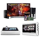 Game Console Arcade Fight Stick, Botones basculantes mecánicos con Puerto USB, Luz de respiración, Adecuado para PS3 / PS4 / Xbox One/Nintendo Switch/PC Windows