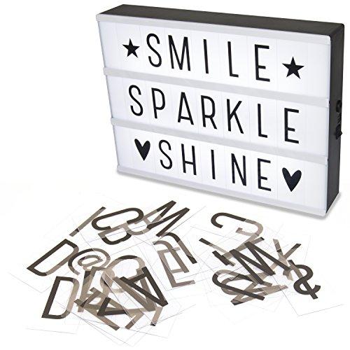 Hausen - A4 LED-Leuchtkasten mit Buchstaben - Dekoration für Hochzeit, Weihnachten & Partys