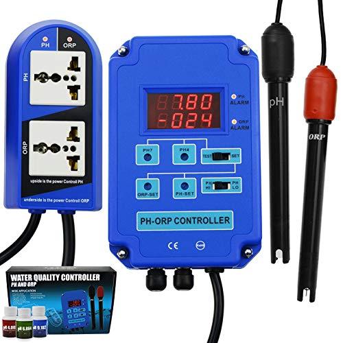 2 in 1 pH ORP Redox regelaar waterkwaliteit tester verwisselbaar BNC elektrode laboratoria aquarium hydrocultuur analyse