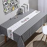SUNFDD Tovaglia in Tessuto PVC Impermeabile, AntiGraffio E Antiolio Piccola Tovaglia Fresca Tavolino Tavolo Quadrato Tavolo da Pranzo Rettangolare Scrivania 120x170cm(WxH) A