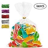 100 peces Borses de cel·lofana transparents,bosses de cel·lofana per a embolicar,bosses per a *chuches *comunion,bosses de galetes de nadal,bosses de regal *plastico,(200 x 300 mm)