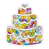 Party&Co. Portaconfetti polistirolo Torta Contenitore eps per Decorazione Compleanno