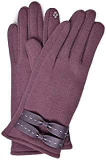 SED Gloves - Outdoor Winter Plus Velvet Gloves, Wo Men's Fluffy Cuff Thermal Lining Touchscreen Windproof Driving Non-Slip Gloves,Purple,One Size
