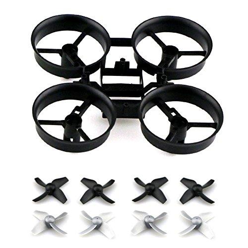 kingtoys Drone Pezzi di Ricambio Eliche Props con Telaio e Blade per JJRC H36 Eachine E010 Micro Drone, Grigio