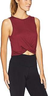 Mippo Women's Mesh Crop Top Sleeveless Racerback Workout Gym Shirt Loose Athletic Tank