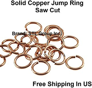 18 Ga Solid Copper Round Open Jump Ring - 10 MM O/D ( 1 OZ - Pack Of 150 )
