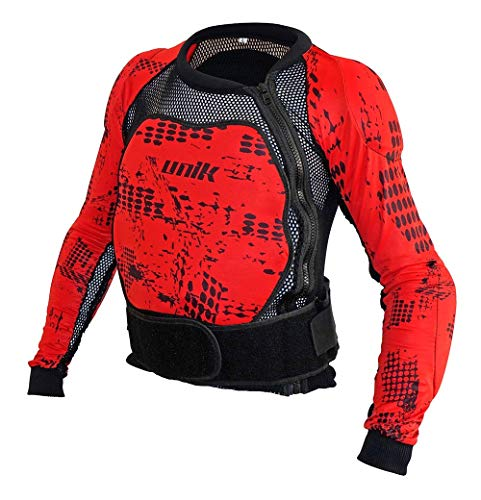Unik - Peto integral con protecciones de espuma Negro/Rojo Talla XXXL