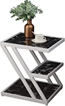 Furniture Coffee Table, Nordic Style Iron Art Bedside Table Living Room Marble Coffee Table Sofa Side Table 2 Tiers Storag...