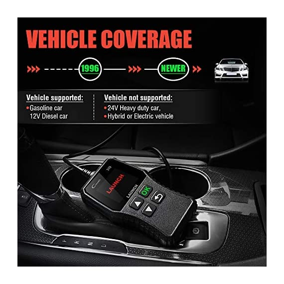 LAUNCH OBD2 Scanner CR319 Check Engine Code Reader with Full OBD2 Functions, Car Engine Fault Code Reader CAN Scan Tool… 6 【CHECK ENGINE LIGHT OBD2 SCANNER】The obd2 scanner CR319 full obd2 function scanner can fast read and clear trouble codes, check emission-related monitors, accurately pinpoint the problems of your vehicle, turn off the MIL (Malfunction Indicator Lamp), and reset the monitors. It enables you to fix the issues yourself, or enlighten you about what might happen before bringing in for repairing. Save your money! Save your time! OVER 200,0000 DIYER 's First Choice !!! 【READ AND CLEAR CODES READER】The lowest price obd2 scanner with full obd2 function scanner, including Read and erase code (Generic, Manufacturer Specific, and Pending Codes) and show code definitions, I/M Readiness, live date, Freeze Frame, Vehicle Information, O2 Sensors, EVAP, On-Board Monitor Test (Mode 6), Component Test, etc,which can help you find the hidden problems and simplify diagnosis, resolve the reasons which light up the engine light, and present you the status of the car engine. 【ONE-CLICK I/M READINESS & DTC LOOKUP】The code reader is equipped with One-Click I/M readiness, which makes it more efficient to check the emission state and readiness so as to have a clear idea about vehicle health status. To assist you in passing the emission test easily, the OBD2 code reader would make sure the monitors are all set. The built-in DTC library with a database of over 3000 code definitions, automatically displayed after reading. Read the definitions, solve the problems.