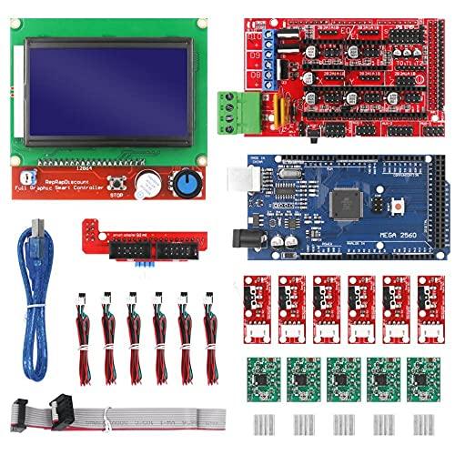 LIZHOUMIL 1 Set 3d Printer Set 2560 Improved Version+12864 Screen+4988 Green 1.4 Driver Board Bagged