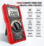 Multimetro Digital Profesiona 9999 Cuentas, BEVA Autorango Polimetro Digital True RMS para Medir Corriente y Tensión, Resistencia, Capacitancia, Temperatura, Diodo, Frecuencia, Continuidad, Live