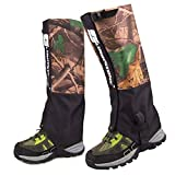 TANDC Outdoor Waterproof Leg Gaiters Camo Breathable Camouflage for Hiking Climbing Hunting Snow Ski Boot Gaiters Guard Legging Leg Cover Wraps