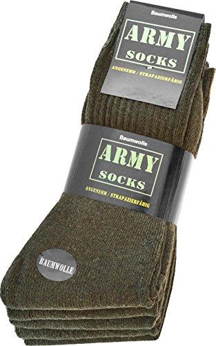 normani 10 Paar Army-Sportsocken aus strapazierfähiger Baumwolle Größe 43/46
