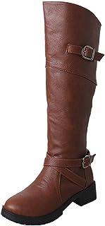 Vêtements et accessoires Chaussure enfant Fille Kid's Mignon Bottine Fermeture Éclair Boucle Talon Plat Mi-mollet-Pointure 9-4