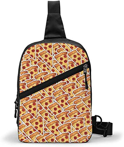 Delicious Food Pizza Sling Bag, Crossbody Schulter Brust Outdoor Wandern Reisen Persönliche Tasche für Damen Herren Wasserdicht