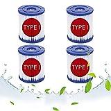 LPFNSF Filtro para Bestway Tipo I sustituye cartuchos filtrantes, filtro bomba piscina para Bestway 58381, accesorio para la limpieza de la piscina para Bestway 58093 (4 unidades)