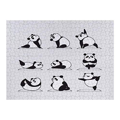 XFVS Puzzle de 1000 Adultos Juguetes educativos Panda Yoga Adultos Juego Creativo de Ejercicio Cerebral