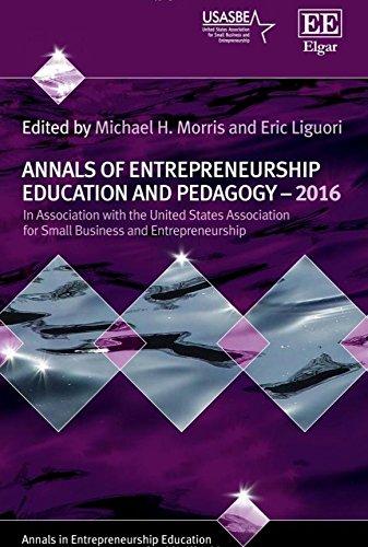 Annals of Entrepreneurship Education and Pedagogy-2016 (Annals in Entrepreneurship Education series)