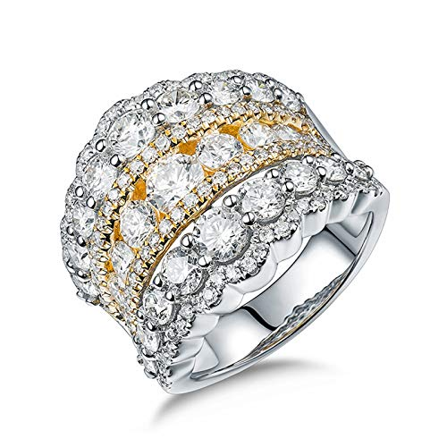 AmDxD no-metal-stamp (Fashion only) oro blanco 18 ct Round Brilliant Diamond