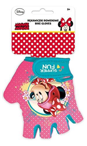 Disney Mädchen Minnie Mouse Fahrradhandschuhe, Mehrfarbig, S