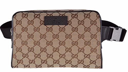 Gucci Men's GG Guccissima Small Canvas GG Waist Belt Fanny Pack Bag