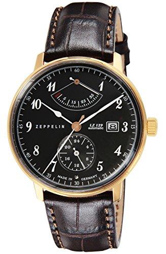[ツェッペリン] 腕時計 Hindenburg グレー文字盤 7064-2 並行輸入品 ブラウン [並行輸入品]