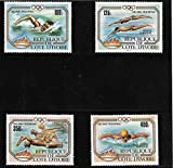 Ivory Coast 1983 Olympic Games - Los Angeles 1984- Swimming MNH Perfect for Gift Sports theme Use for Collection School Project works and Decoration Collect Stamps to gain knowledge