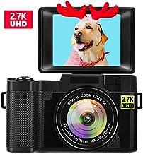 Digital Camera Vlogging Camera with Flip Screen 2.7K...