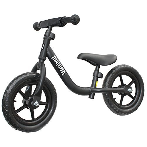 "Mamba Sport 12"" Balance Bike with Handlebar Pad (Black)"