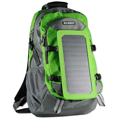Solar Charger Backpack With 7 Watts Solar Panel For Smart Cell Phones