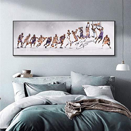 KWzEQ Leinwanddrucke Basketball-Star-Poster und dekorative Bilder für die Wohnkultur im Wohnzimmer40x120cmRahmenlose Malerei
