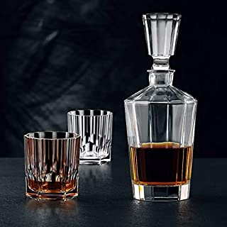 Nachtmann Aspen Whiskyset Facette, 1 Dekanter Whiskeykaraffe  2 Whiskygläser, 3er-Set