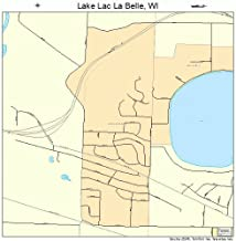 Large Street & Road Map of Lake Lac La Belle, Wisconsin WI - Printed poster size wall atlas of your home t