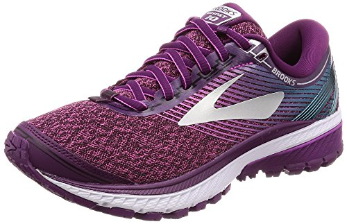 Brooks Women's Ghost 10 (7 B US, Purple/Pink/Teal)