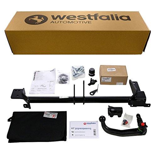 Westfalia abnehmbare Anhängerkupplung für Evoque (BJ ab 09/2011), Evoque Cabrio (BJ ab 05/2016) im Set mit 13-poligem fahrzeugspezifischen Westfalia Elektrosatz