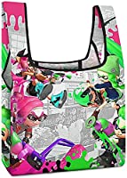 スプラトゥーン エコバッグ エコ袋 折りたたみ コンビニ ショッピングバッグ 買い物袋 コンパクト 大容量 防水 携帯便利 おしゃれ キャラクター かわいい