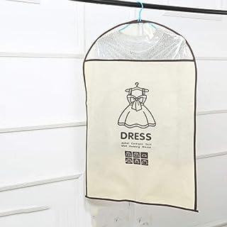 WOYAOFA Clothes dust Cover Suit Hanging Bag Clothing Hanging Clothes Storage Non-Woven dustproof Transparent 128CM×60CM Storage Bag (Color : Clear)