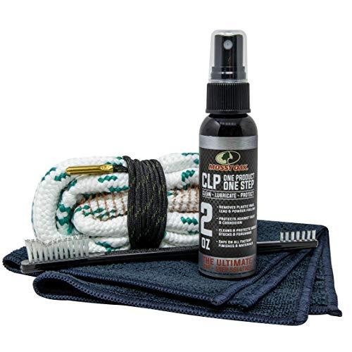 Mossy Oak Shotgun Combo Kit | Cleaner, Lubricant & Bore Brush | All-in-One | Clean, Lubricate, Protect | Rust Preventative Cleaning Kit | CLP, Bore Snake, Nylon Brush & Microfiber Towel (12 Gauge)