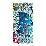 Janhe Toalla de baño del Hotel Dibujos Animados Océano Animal Muro Altamente Absorbente Playa Toalla Multiusos Ultra Suave