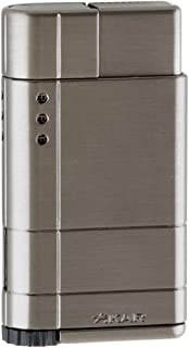 Xikar Cirro High Altitude Lighter with Turbo Flame, Works at Up to 12000 Feet Above Sea Level, Gunmetal