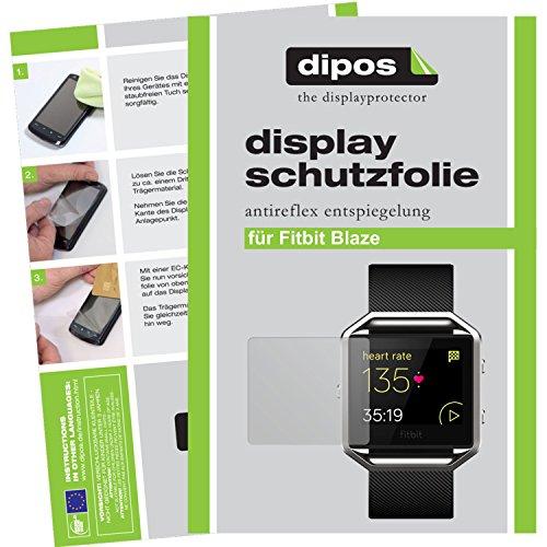 dipos I 6X Schutzfolie matt kompatibel mit Fitbit Blaze Folie Bildschirmschutzfolie