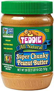 3-Pack Teddie All Natural Peanut Butter, Super Chunky, 26-Ounce Jar