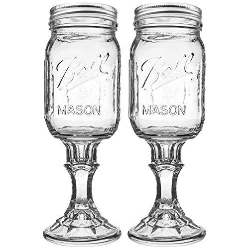 Ball RNWG-16OZ-2PK Wine Glass Stemware, Set of 2, One Size, Clear