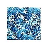 Pañuelo japonés Pañuelo Algodón Pañuelo para Bento Almuerzo envolviendo Tenugui -Olas del mar